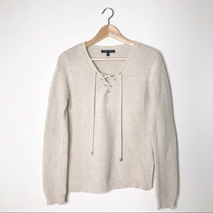 Romeo and Juliet Couture Cream Pullover Sweater